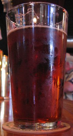A pint of Boy Red at BrickHouse Brewery