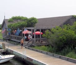 The snack bar and gift shop at Sailor's Haven