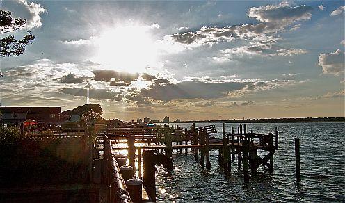 docks on the bay