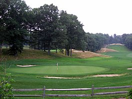 beautiful rolling hills on a golf course