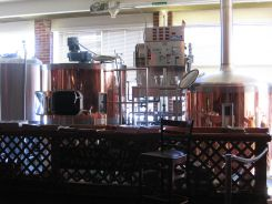 Brew kettles at Brickhouse Brewery