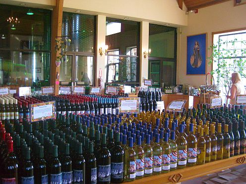 A large selection of wines