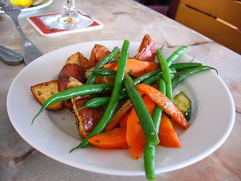 plate of vegitables