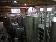 Stainless steel tanks for fermenting wine