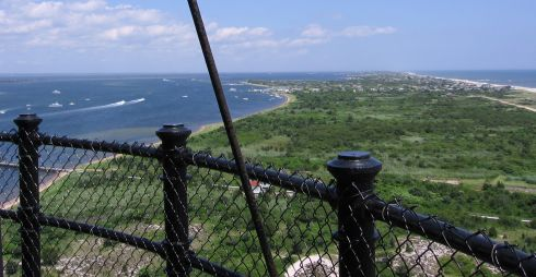 Looking east from the top of the lighthouse
