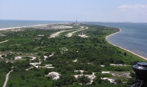 Looking west from the top of the lighthouse
