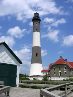 The lighthouse & keeper's quarters