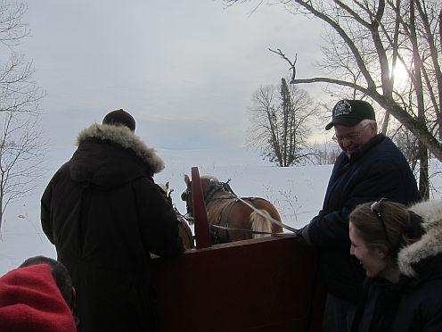 a horse drawn sleigh