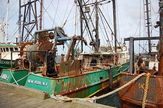 fishing trawlers at dock