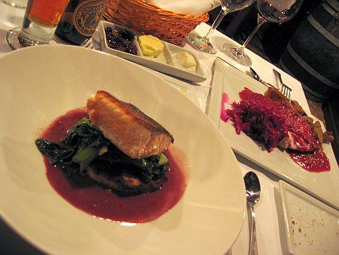 Salmon and pork