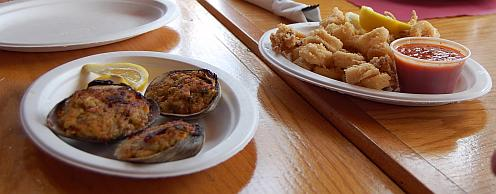 baked clams and fried squid