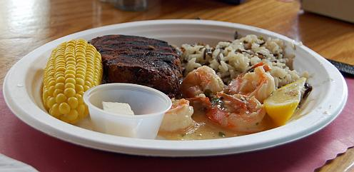 filet mignon with shrimp scampi