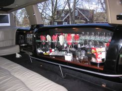 Inside the limo