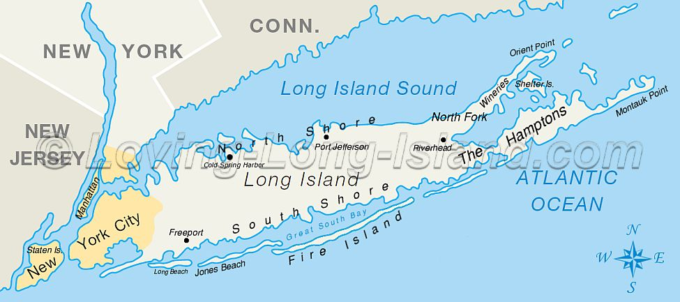 map of long island counties. Here's a neat little map of Long Island showing