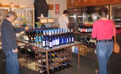A winery gift shop