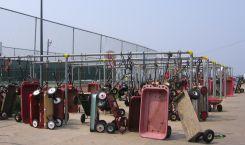 The wagon parking lot at Ocean Beach