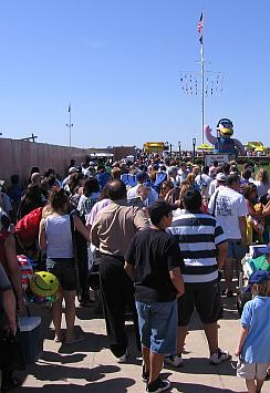 people waiting on line