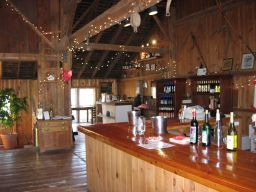 The tasting room at Jamesport Vineyards
