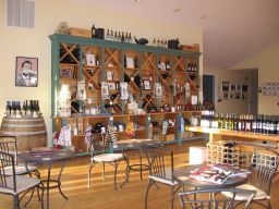 The tasting room at Laurel Lake Vineyards