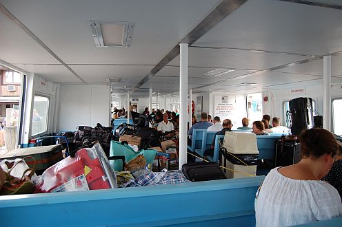 inside a ferry