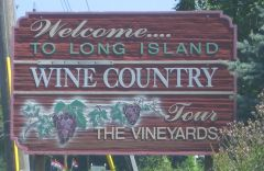 Wine country sign