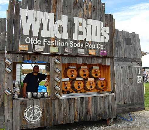 a soda stand selling old fashoned soda