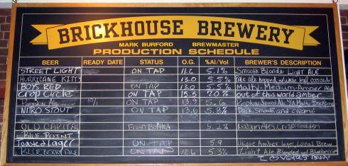 Brewery Schedule