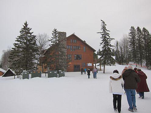 A ski lodge