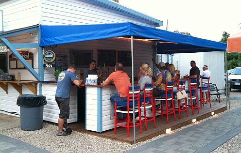 a small outdoor bar