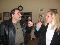 Tasting wine at Pugliese Vinyards