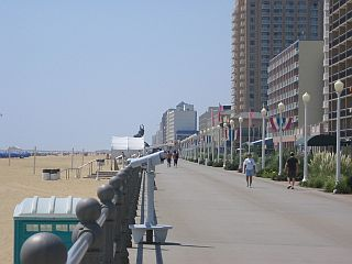 Boardwalk and hotels