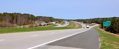 Sunrise Highway & Pine Barrens near Manorville