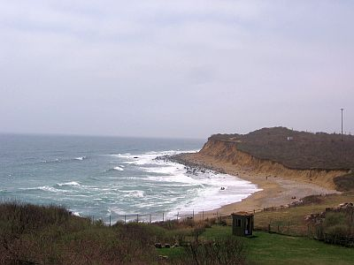 The bluffs at Montauk Point