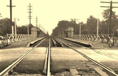 Grade crossing, Massapequa Park, circa 1938